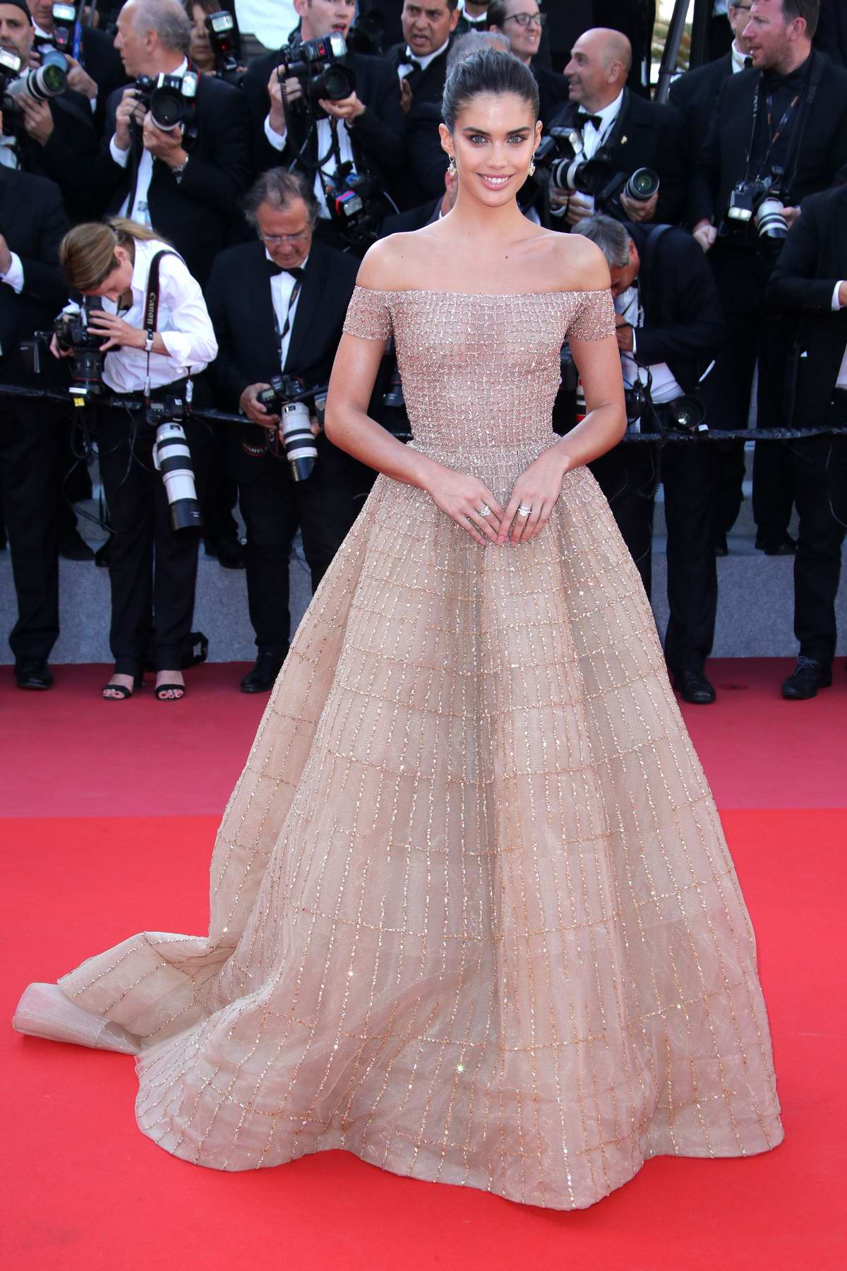 Sara Sampaio attends 'Girls Of The Sun' premiere during 71st Annual Cannes Film Festival in Cannes, France