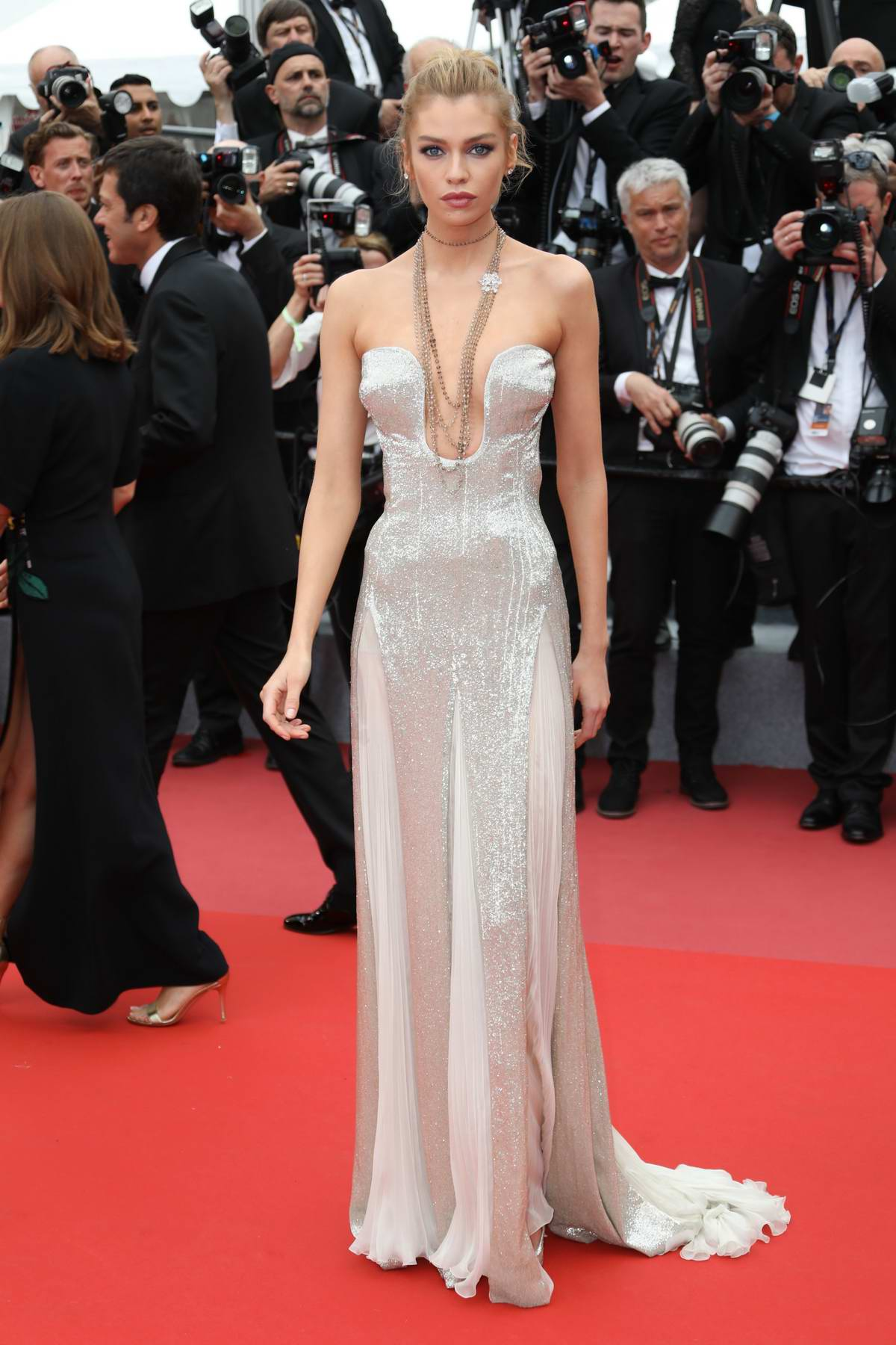 Stella Maxwell at the premiere of 'Sorry Angel' during 71st Cannes Film Festival in Cannes, France