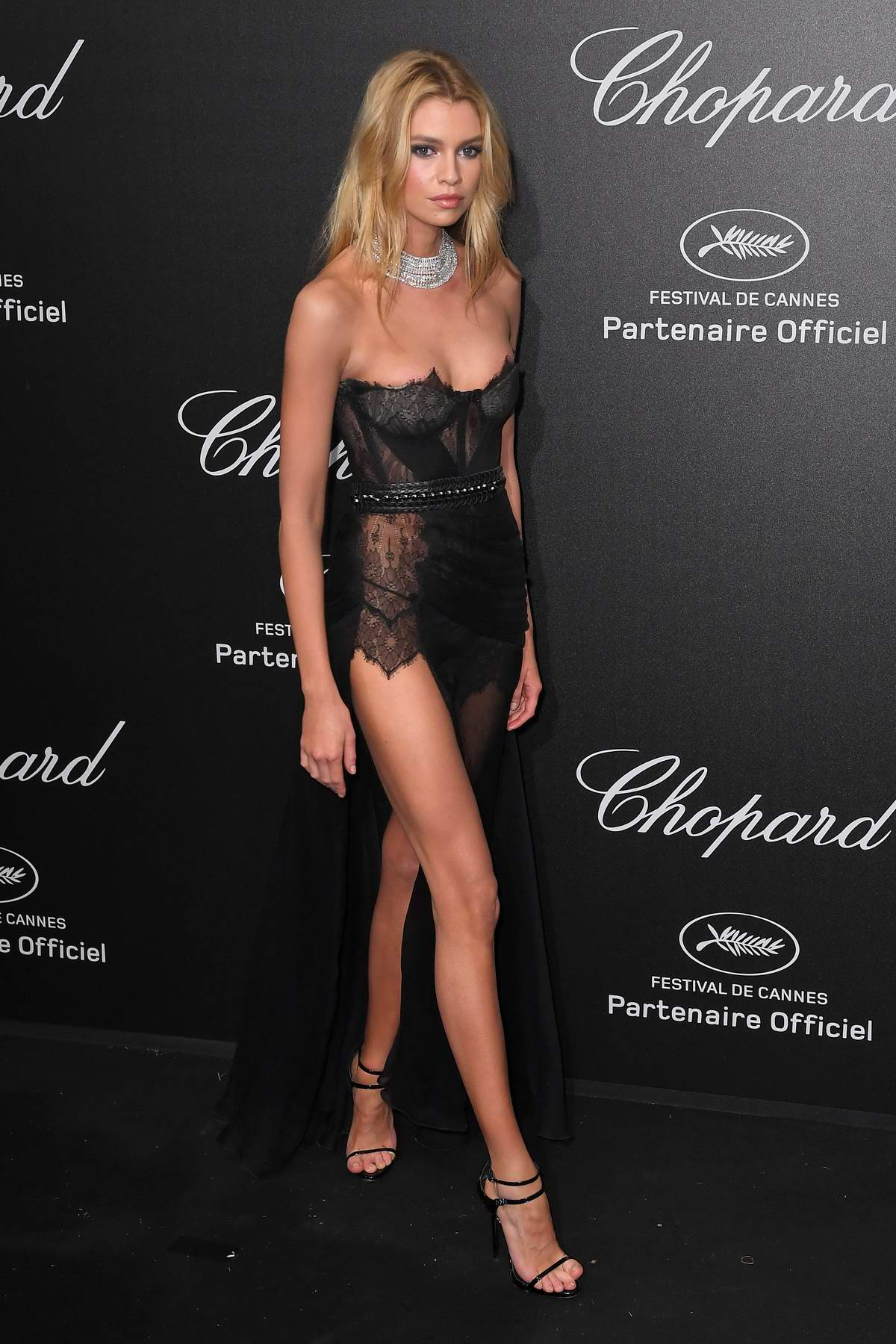 Stella Maxwell attends Secret Chopard party during the 71st Cannes Film Festival in Cannes, France