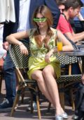 Thylane Blondeau dons multiple outfits while out on a Photoshoot during 71st Cannes Film Festival in Cannes, France