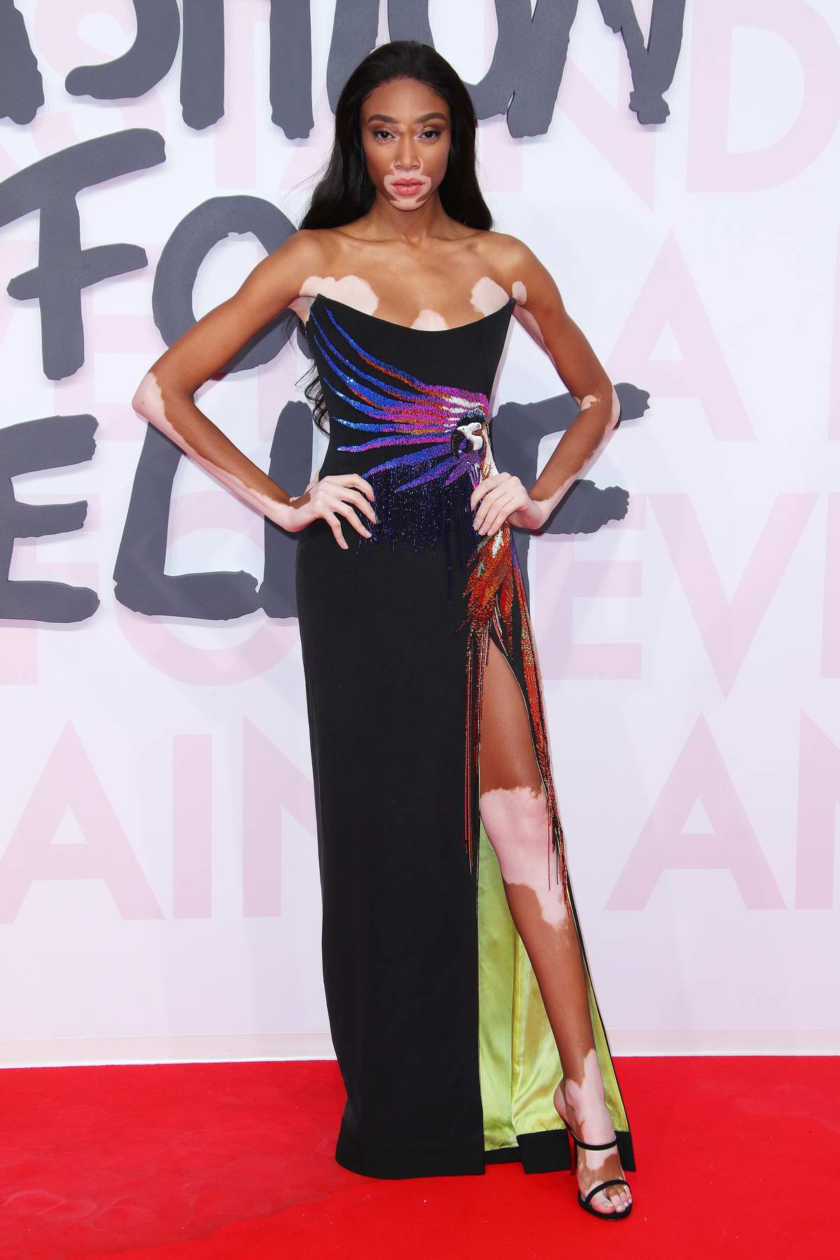 Winnie Harlow attends Fashion For Relief, Cannes 2018 during the 71st annual Cannes Film Festival, France