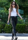 Dakota Johnson spotted while shopping groceries and flowers at Erewhon in Los Angeles