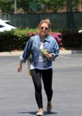 Hilary Duff heads to the gym before stopping by the Bed, Bath and Beyond in Studio City, Los Angeles