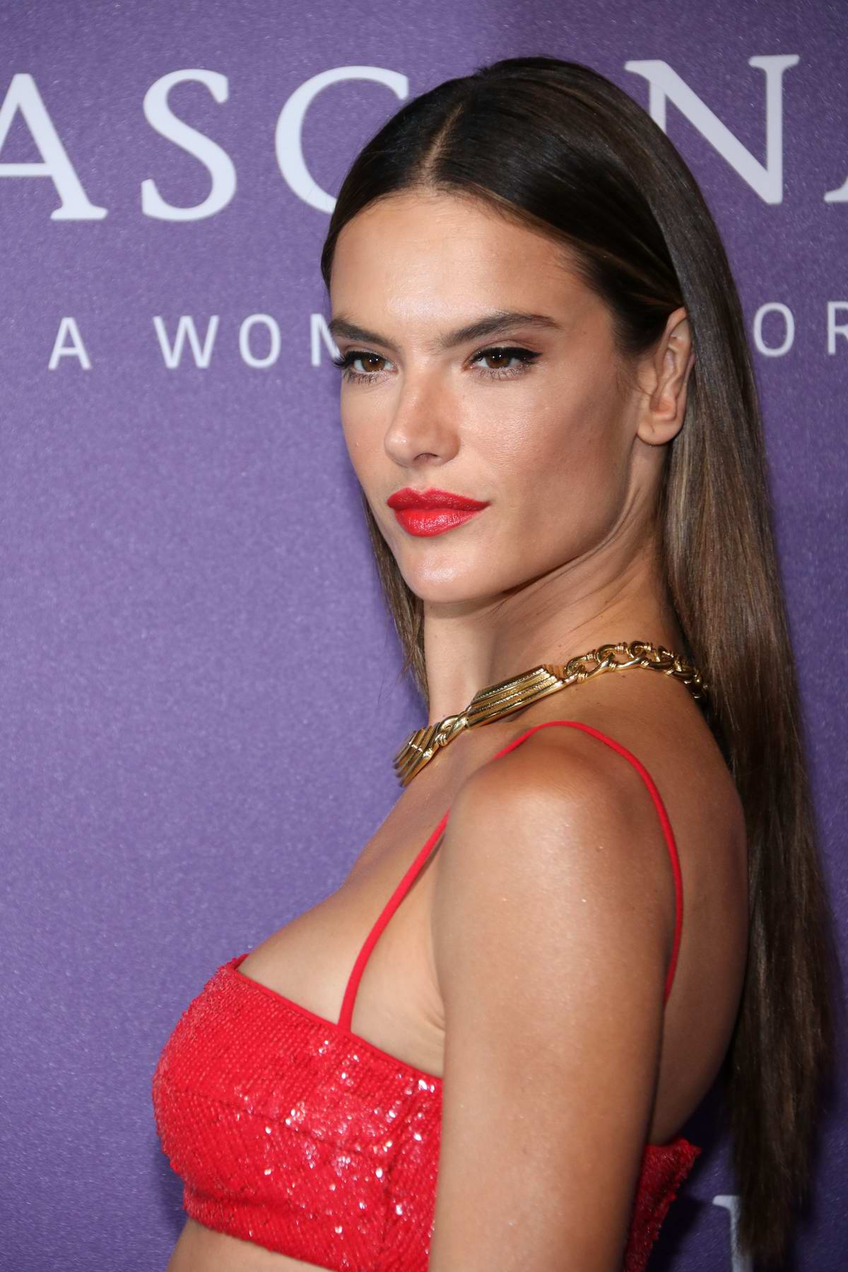 Alessandra Ambrosio attends the 'It's A Woman's World' Fashion Show at the nhow Hotel in Berlin, Germany
