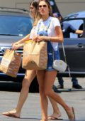 Alessandra Ambrosio seen running errands through the day in Santa Monica, Los Angeles