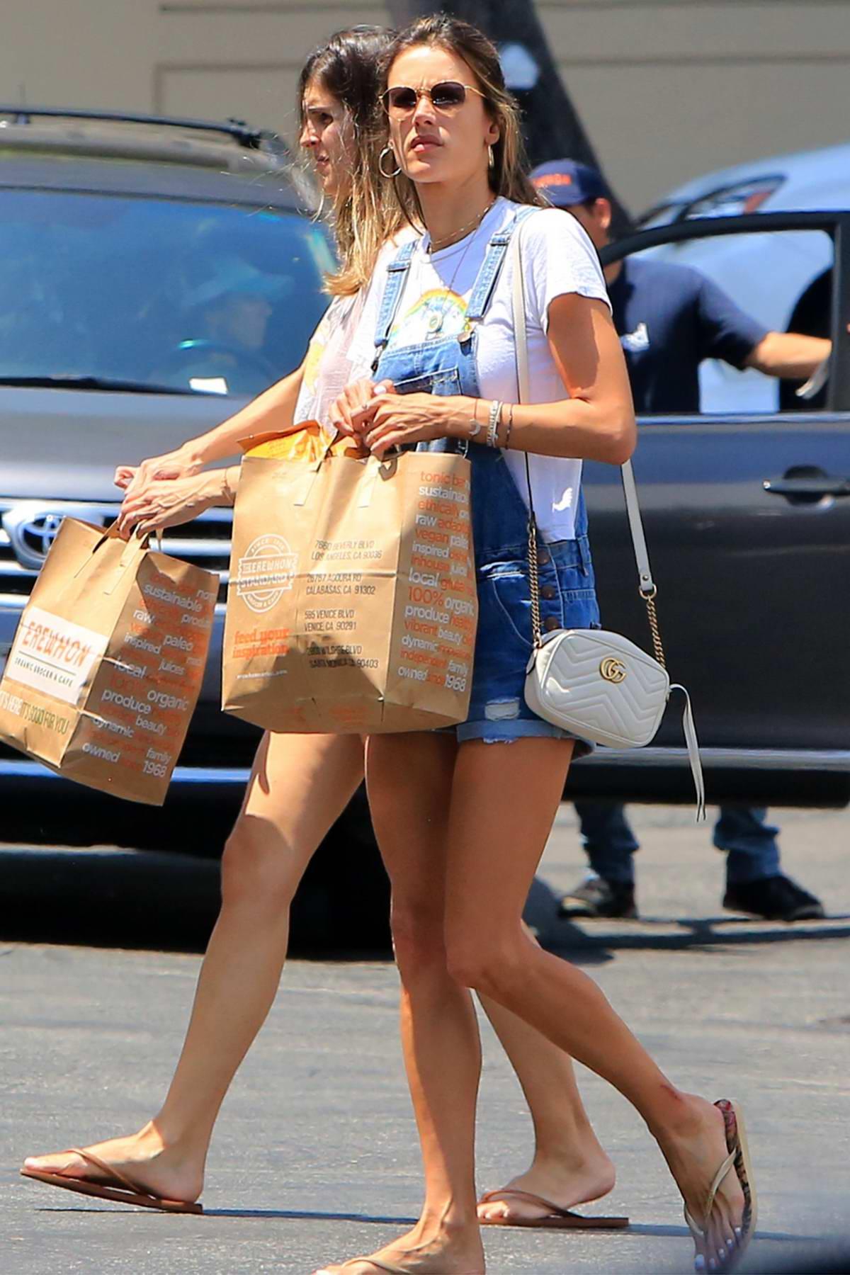 Alessandra Ambrosio seen running errands through the day in Santa Monica, Los Angeles
