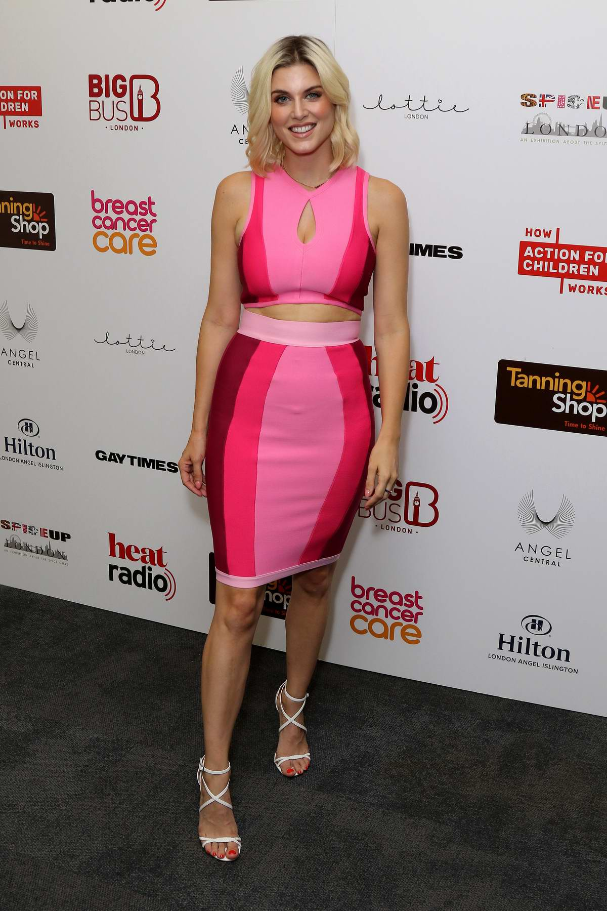Ashley James attends Spice Girls Exhibition VIP Launch in London, UK