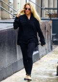 Ellie Goulding steps out in all black in New York City