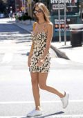 Emily Ratajkowski wears a floral print summer dress while out with her friends in New York City