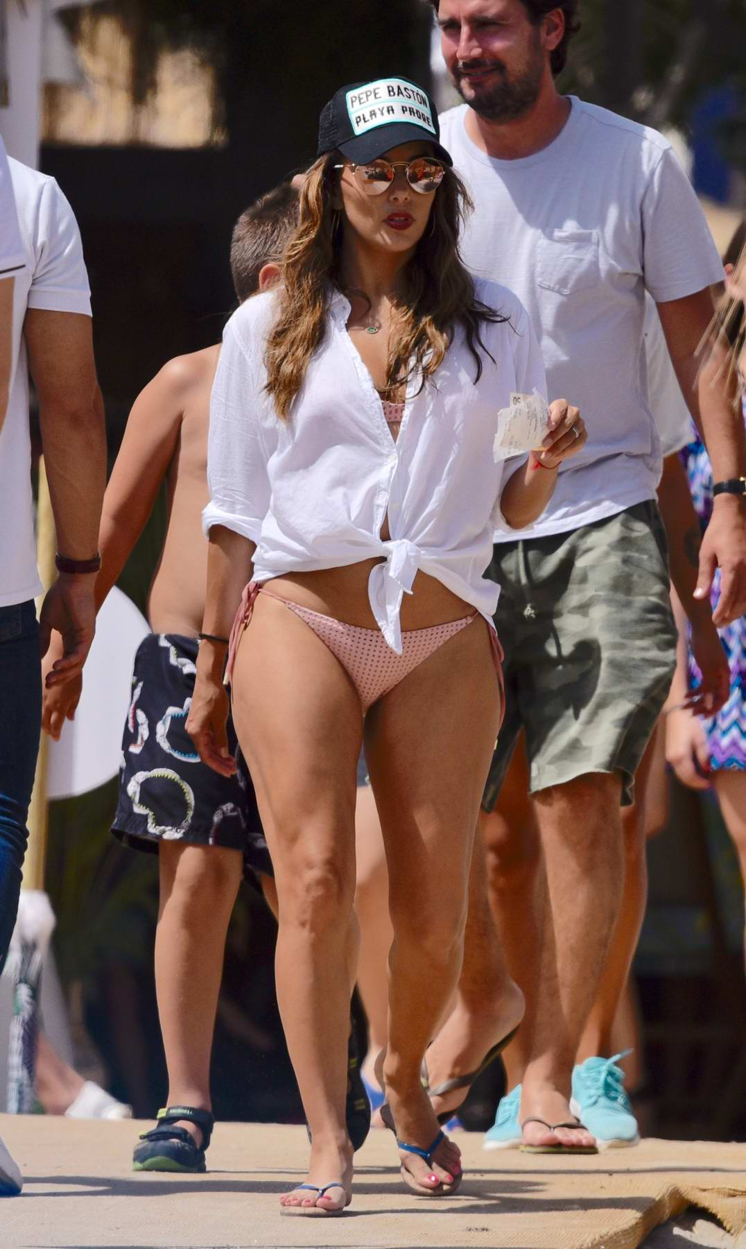 Eva Longoria hits the beach in a bikini with husband Antonio Baston in Marbella, Spain