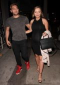 Francesca Eastwood flaunts her baby bump as she and boyfriend Alexander Wraith leaves Craig's restaurant in West Hollywood, Los Angeles