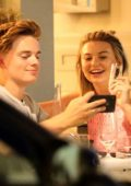 Georgia Toffolo enjoys a dinner date night with Jack Maynard in London, UK