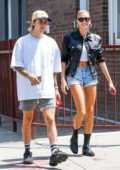 Hailey Baldwin and Justin Bieber enjoy Saturday brunch in New York City