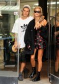 Hailey Baldwin shows off her engagement ring while out for shopping with Justin Bieber in New York City