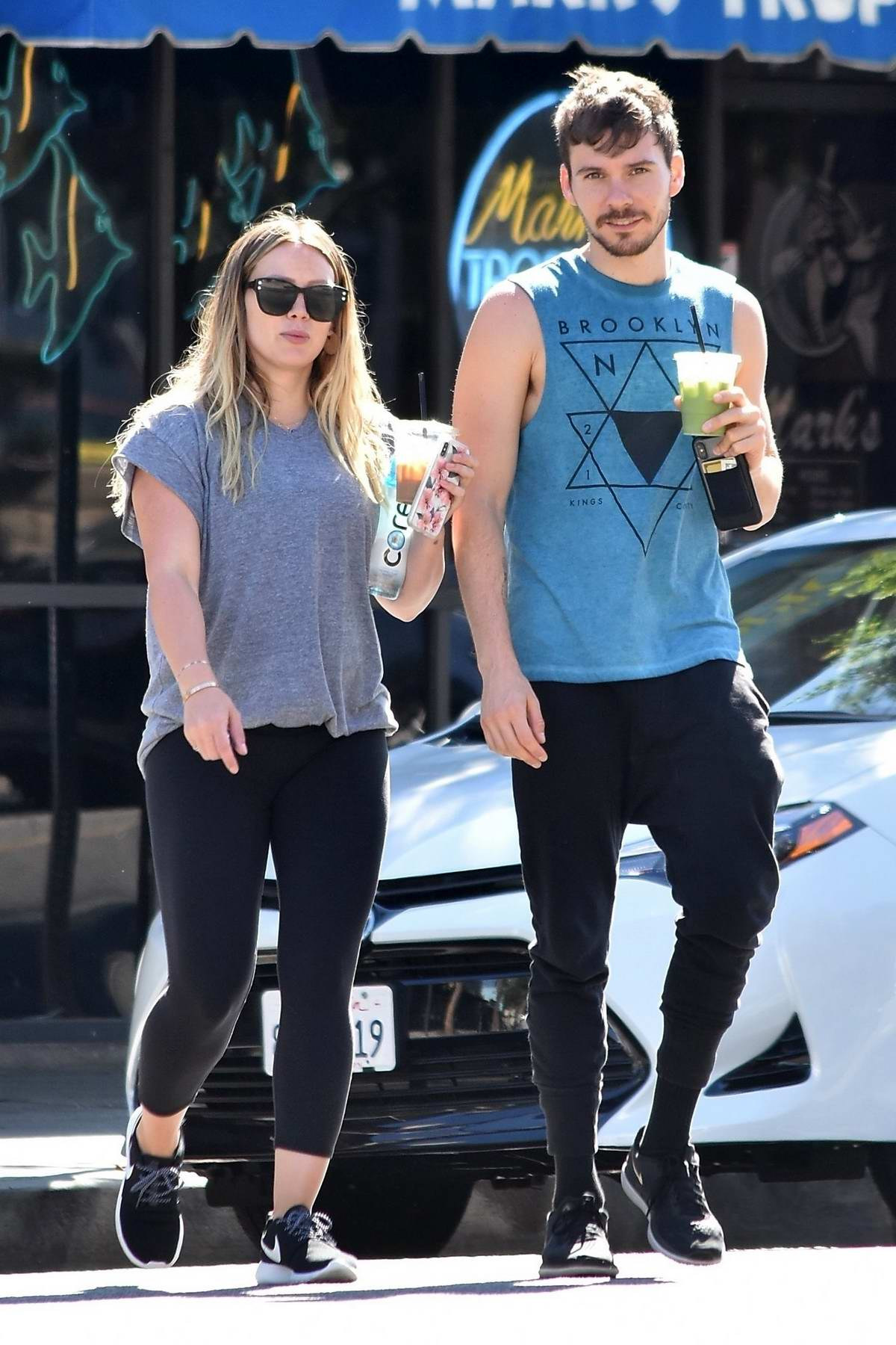 Hilary Duff and boyfriend Matthew Koma takes morning stroll together in Studio City, Los Angeles