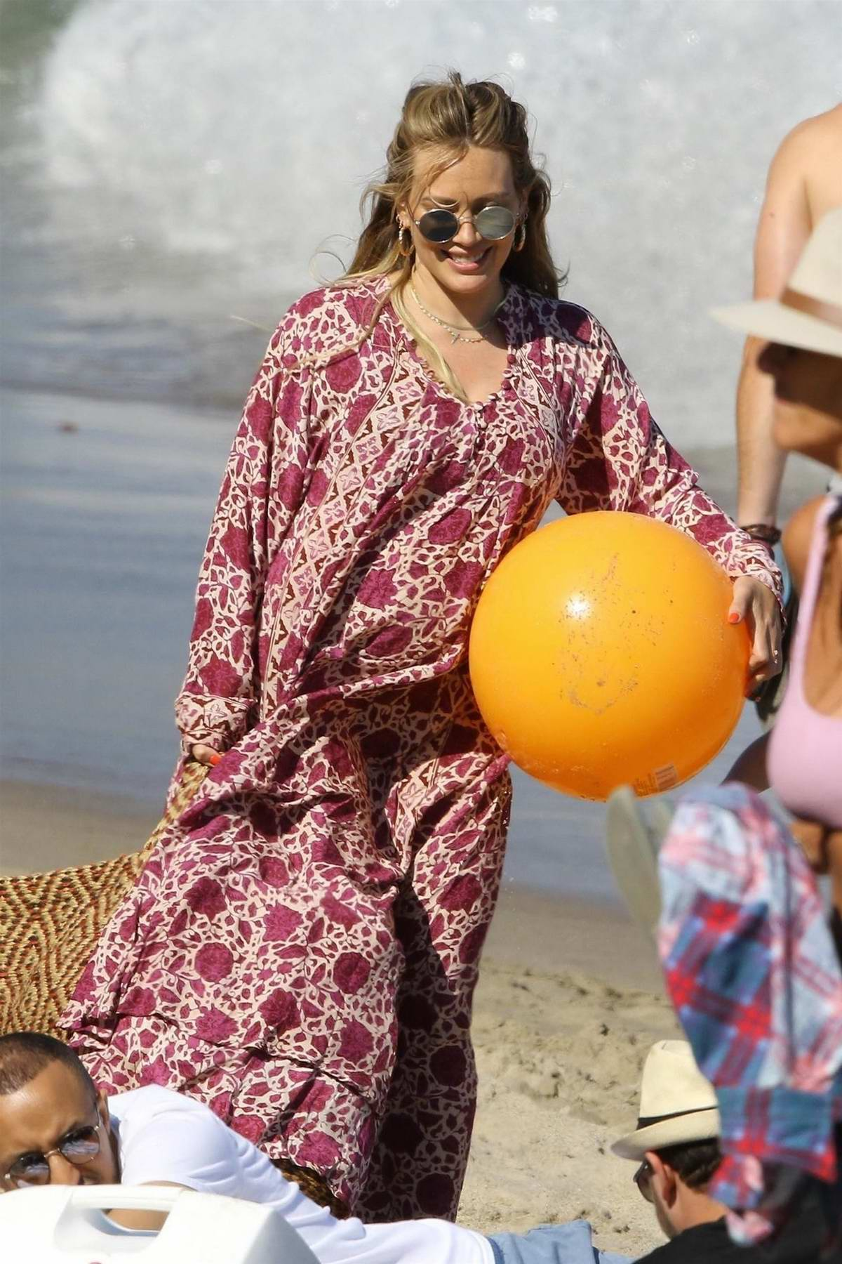 Hilary Duff enjoys a beach day with her son on the 4th of July in Malibu, California