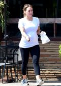 Hilary Duff stopped by the bakery after her workout in Los Angeles