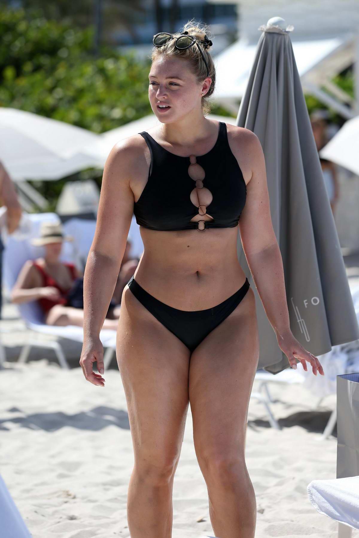 28cab27f462 iskra lawrence wears a black bikini while on the beach during swim week in  miami beach, florida-120718_6