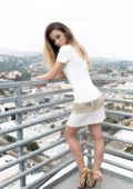 Jessica Lowndes pose for 'All White Party' photoshoot for her website