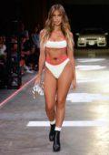 Kara Del Toro dons multiple bikinis at the Frankies Bikinis Fashion Show in Los Angeles