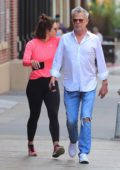 Katharine McPhee and David Foster spotted for the first time since their engagement as they visit NYC Jeweler in New York City