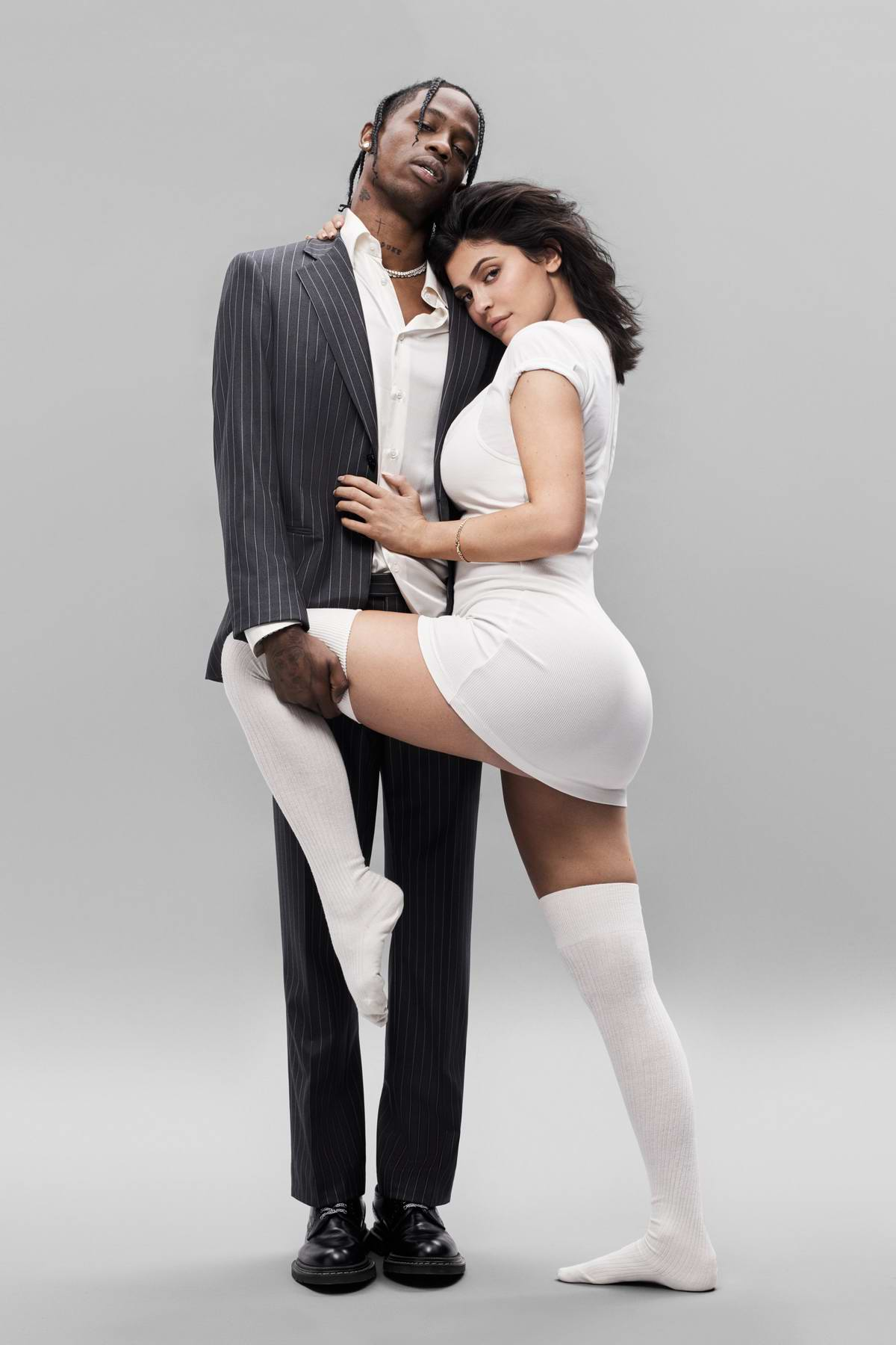 Kylie Jenner and Travis Scott photo shoot for GQ Magazine, August 2018