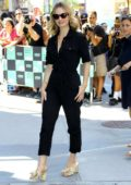 Lily James arrives at AOL Build Series to promote 'Mamma Mia! Here We Go Again' in New York City