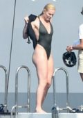 Lindsey Vonn and boyfriend Pernell Karl Subban spotted on a luxury yacht during their vacation in Sardinia
