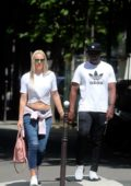 Lindsey Vonn holds hands with her new boyfriend Pernell Karl Subban while out for shopping in Paris, France