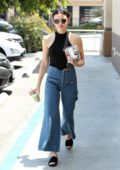 Lucy Hale grabs a smoothie and some breakfast to-go in Los Angeles