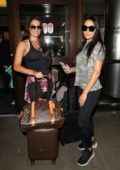 Nikki and Brie Bella spotted at LAX international airport, Los Angeles
