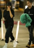Selena Gomez is all smiles during a night out with Caleb Stevens and friends in Los Angeles