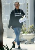Selena Gomez spotted leaving the doctor's office wearing a 'Choose Empathy' sweatshirt in Beverly Hills, Los Angeles