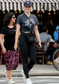 Sophie Turner and Joe Jonas step out for lunch with their mothers in New York City