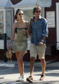 Alessandra Ambrosio spotted while sharing a kiss with new boyfriend Nicolo Oddi after a date in Los Angeles