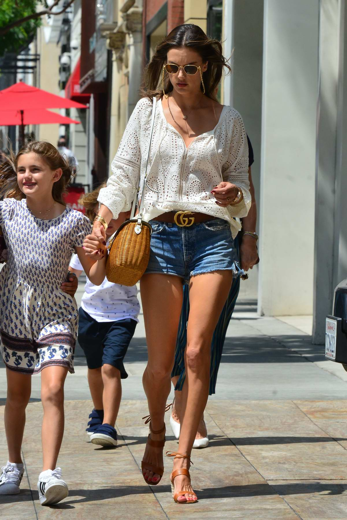 Alessandra Ambrosio Takes Her Kids And Mother Out To