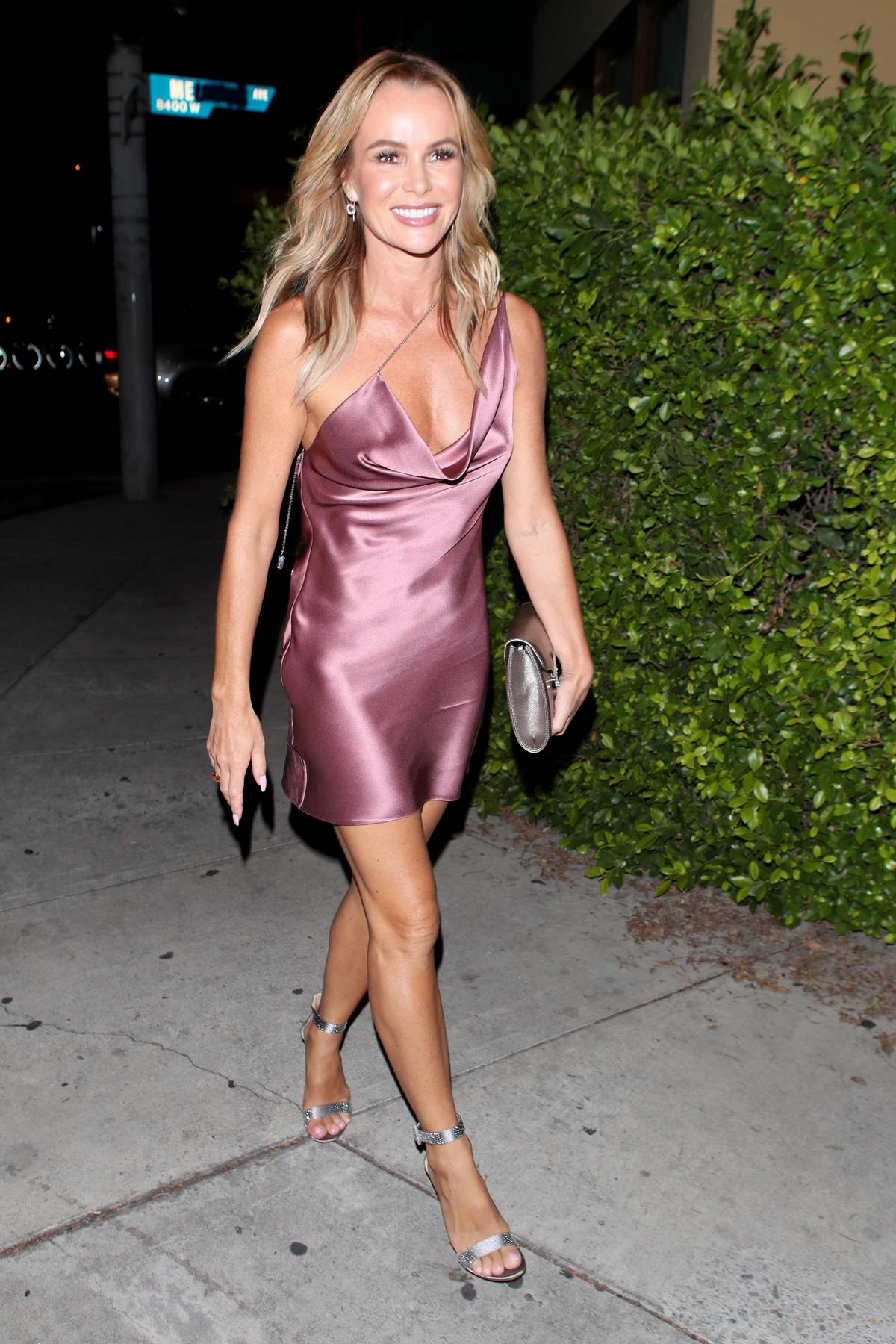 Amanda Holden arriving to the Simon Cowell 'Hollywood Star Celebration Party' at Italian restaurant 'Ago' in Los Angeles