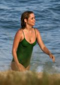 Ana de Armas seen while filming a scene in swimsuits for an untitled upcoming project in Rio de Janeiro, Brazil