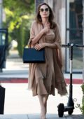 Angelina Jolie looks elegant in an all beige ensemble while out to lunch with her son Pax at Perch restaurant in Los Angeles