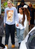 Ariana Grande and Pete Davidson seen wearing matching Sweetener sweatshirts while out in New York City