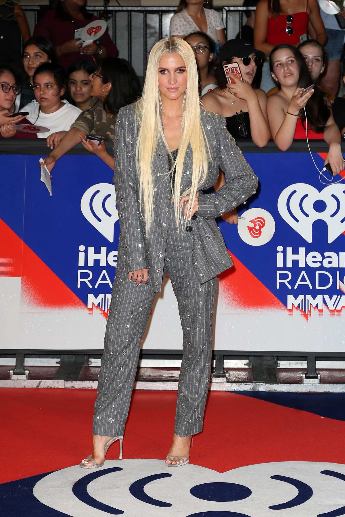 Ashlee Simpson attends 2018 iHeartRadio MuchMusic Video Awards (MMVA 2018) at MuchMusic HQ in Toronto, Canada