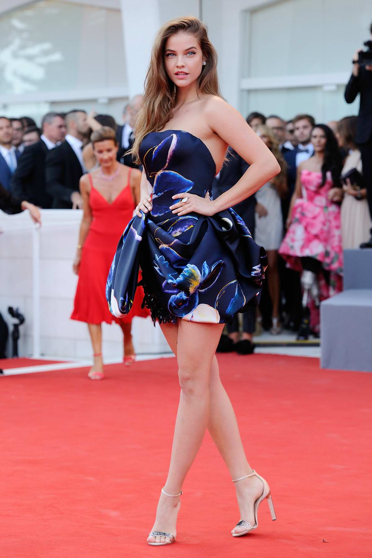Barbara Palvin attends 'first man' premiere and the Opening Ceremony of the 75th Venice International Film Festival in Venice, Italy