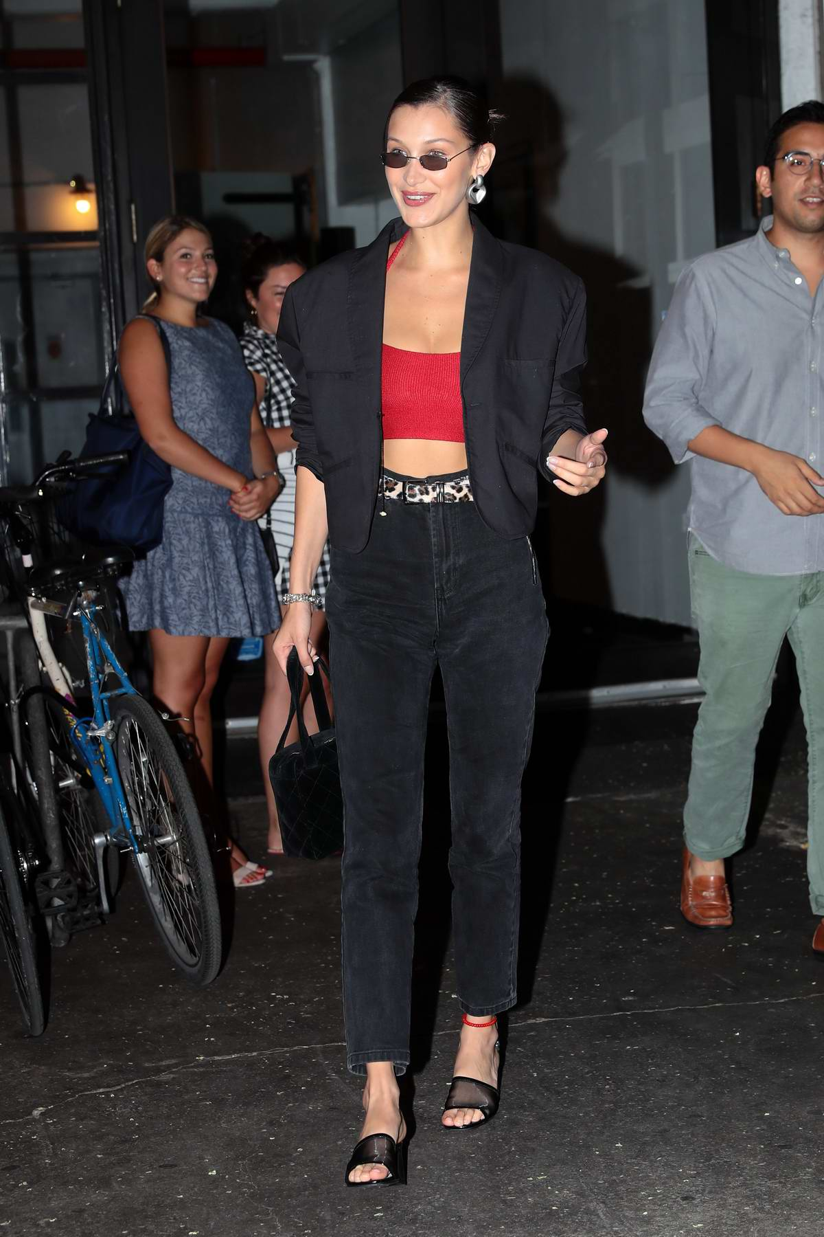 Bella Hadid grabs dinner with her friends at Barbuto Italian Restaurant in New York City