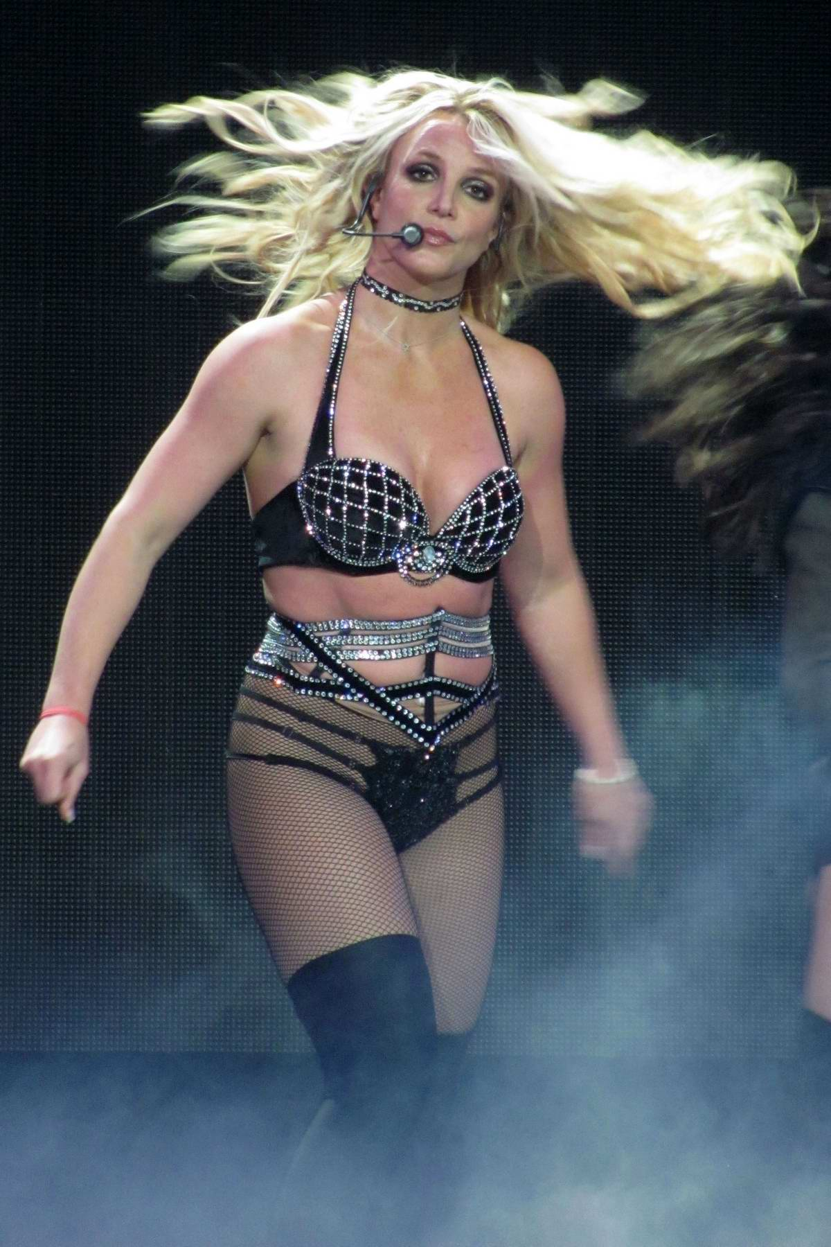 Britney Spears performs on her 'Piece Of Me' World Tour at O2 Arena in London, UK