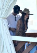 Camila Morrone and Leonardo DiCaprio spotted together during a boat ride while on holiday in Positano, Italy