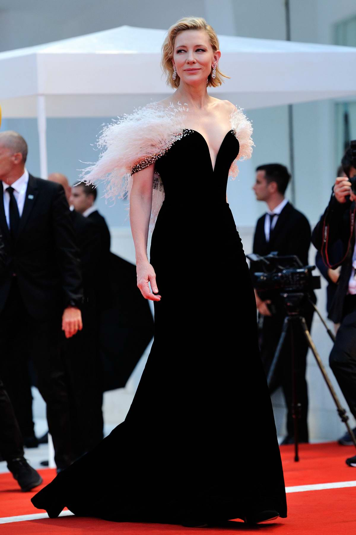 Cate Blanchett attends 'A Star Is Born' premiere during the 75th Venice Film Festival in Venice, Italy