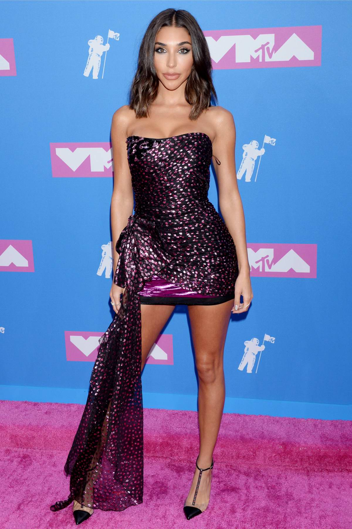 Chantel Jeffries attends 2018 MTV Video Music Awards (MTV VMA 2018) at Radio City Music Hall in New York City