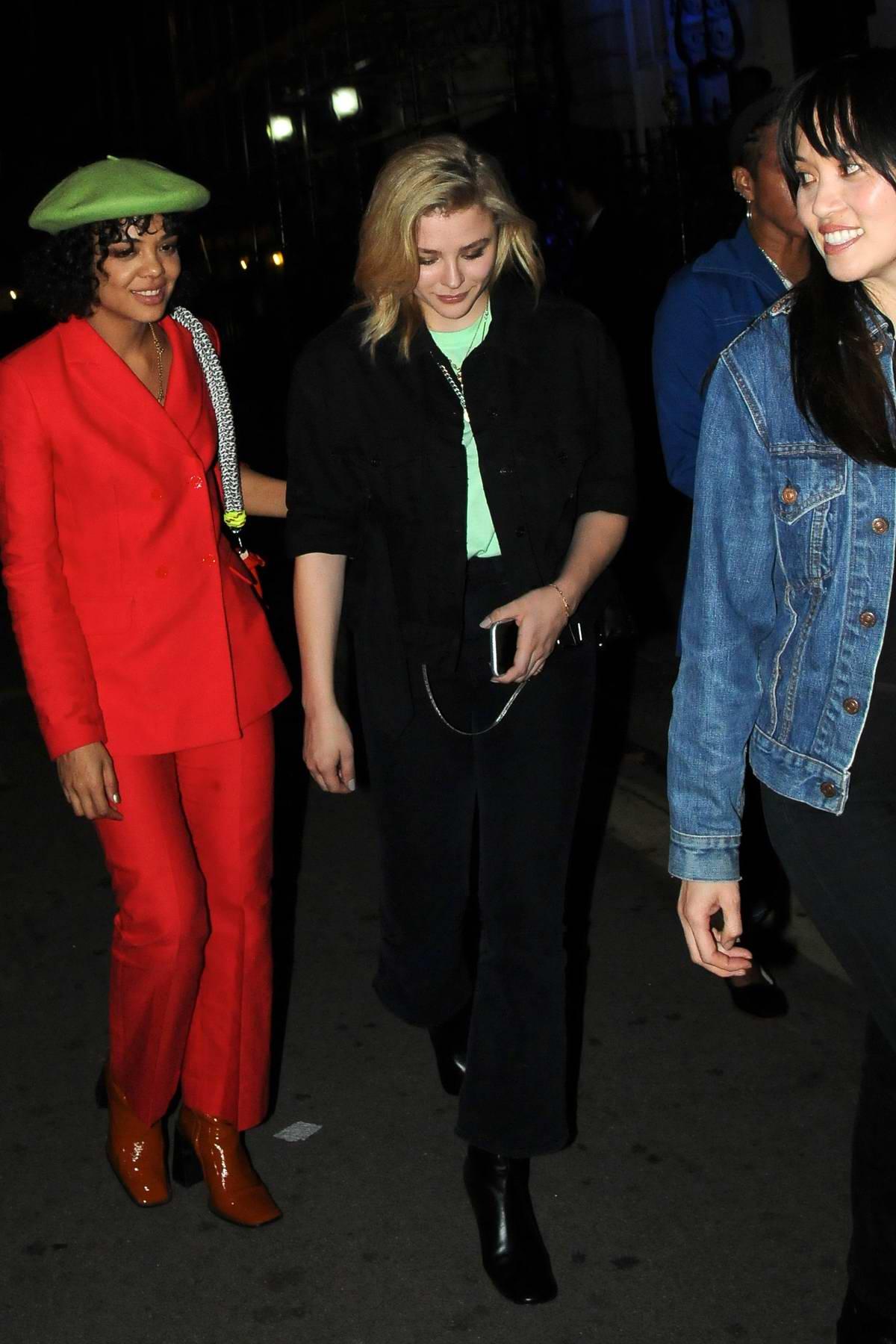Chloe Grace Moretz leaves Annabel's Private Members Club in London, UK