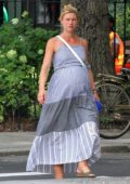 Claire Danes and husband Hugh Dancy seen with their son in New York City