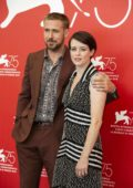 Claire Foy and Ryan Gosling attending 'First Man' photocall during the 75th Venice International Film Festival in Venice, Italy